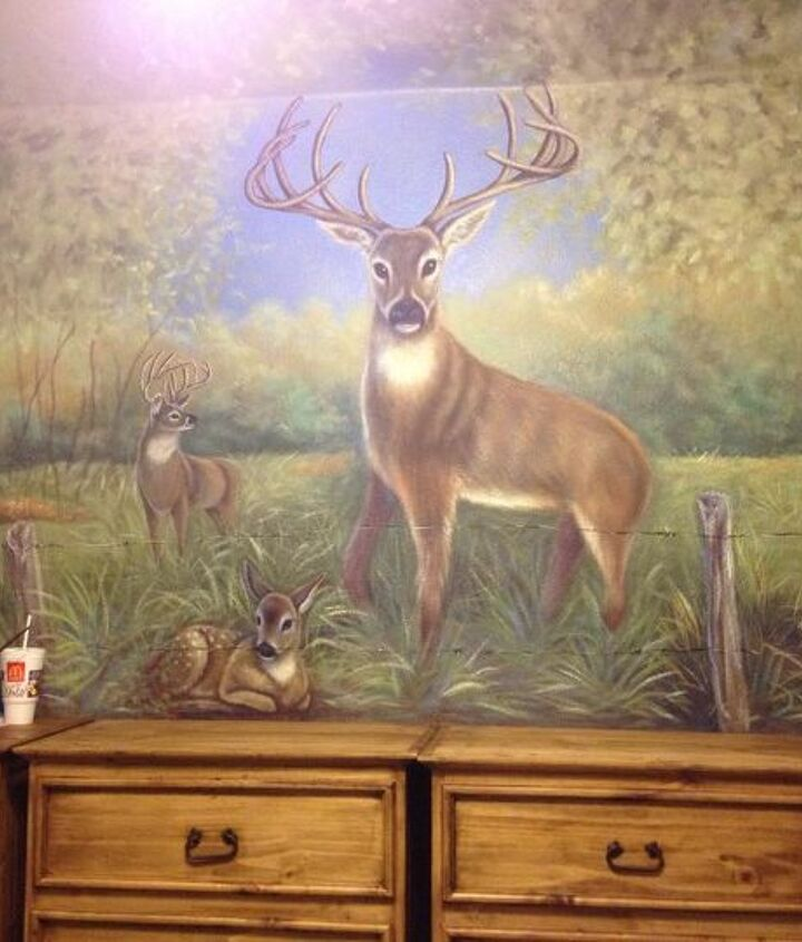 Mural I painted above the dressers