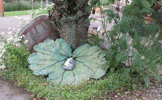 cement leaf gunnera, concrete masonry, landscape, outdoor living, Glow in the dark Gunnera leaf
