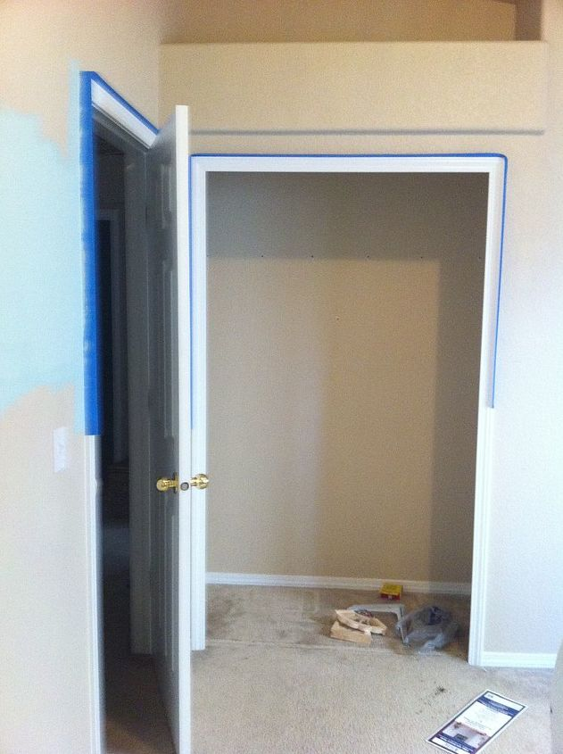 q small nursery open up the closet we were looking for creative and practical ways to, closet, electrical, home decor, Before picture