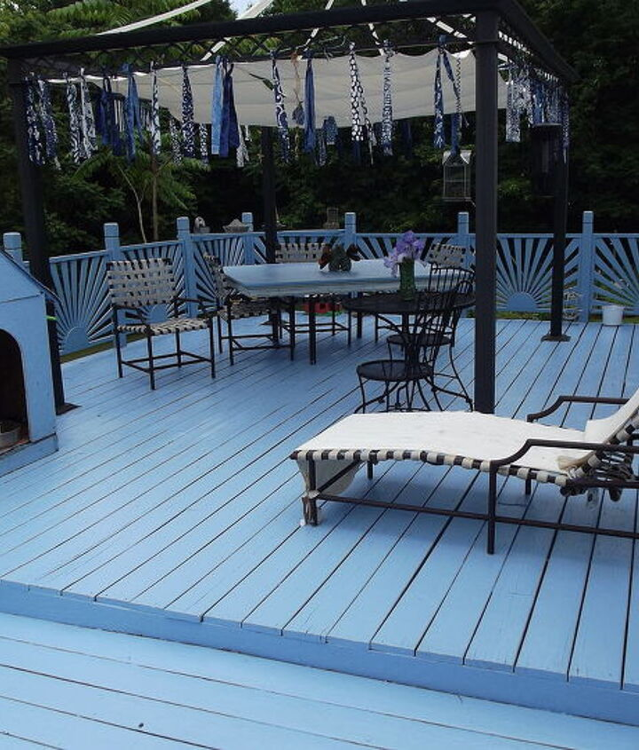 same deck...but my redo -paint & freecycle does wonders