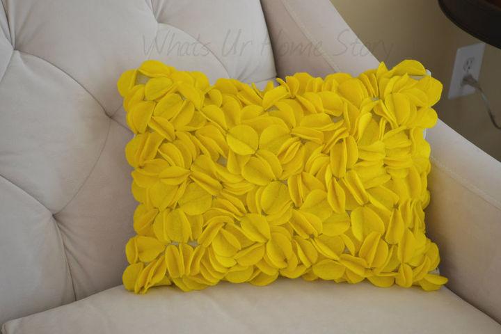 felt circle pillow, crafts, home decor, Felt Circle Pillow
