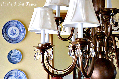 from brassy to sassy brass chandelier makeover with spray paint, lighting, painting, Brass Chandelier Makeover