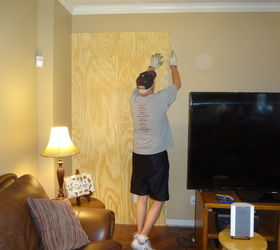 Custom Built Entertainment Center, Diy, Kitchen Cabinets, Living Room  Ideas, Painted Furniture. Started With A Bead Board Backing ...
