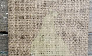 burlap pear tutorial, crafts, repurposing upcycling, Burlap Pear Decor