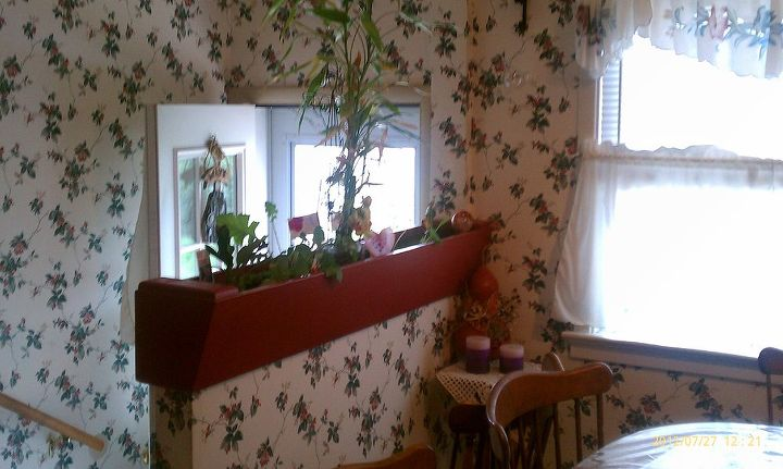i redid this flower box thats built into the wall of back doorway but having, flowers, gardening
