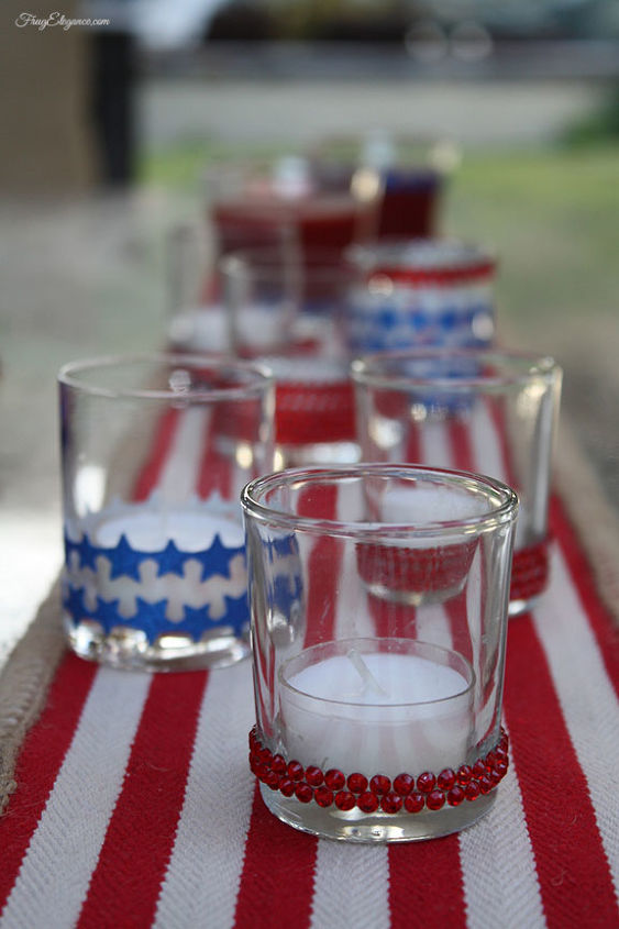 Easy to decorate July 4th Votives