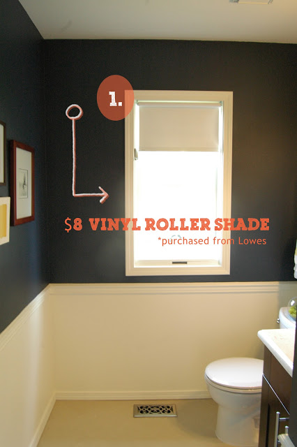 Shade is the basic and super cheap Vinyl Roller Shade you find at lowes or home depot...they cut to your dimensions.   You are buying for the mechanics not the vinyl shade.