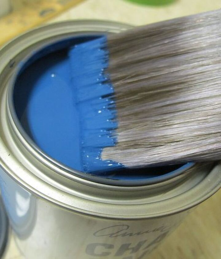 before amp after the makeover of a wooden play kitchen, chalk paint, diy, how to, painted furniture, Annie Sloan Napoleonic Blue Isn t it a DIVINE color Love it Dries a shade darker