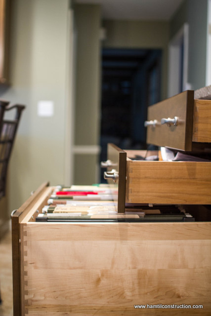 kitchen cabinet storage solutions, kitchen design, shelving ideas, storage ideas, Occasionally we do install aftermarket file storage accessories in kitchen drawers Usually this is helpful for a side desk area where bills mail paperwork might start accumulating