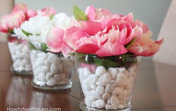 Dollar Store Flower Centerpieces