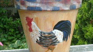 q what kind of paint can i use to apply to terra cotta flower pots i want to paint and, flowers, gardening, painting