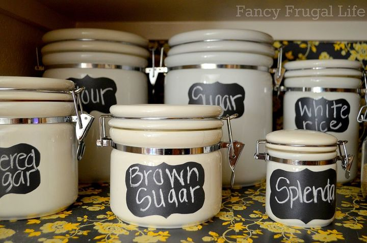 i organized my pantry with chalkboard vinyl labels canisters and baskets from, chalk paint, chalkboard paint, closet, crafts, organizing