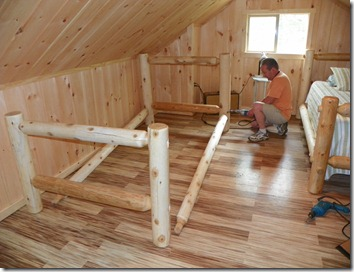 handmade cabin furniture, painted furniture, woodworking projects