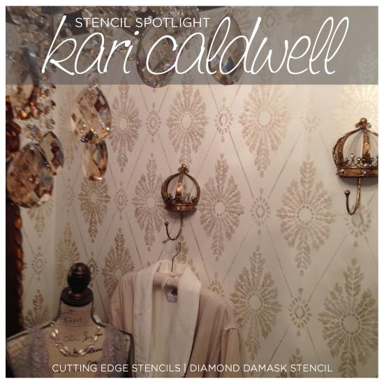 stencil spotlight kari caldwell a decorative painter, bedroom ideas, diy, painting, wall decor