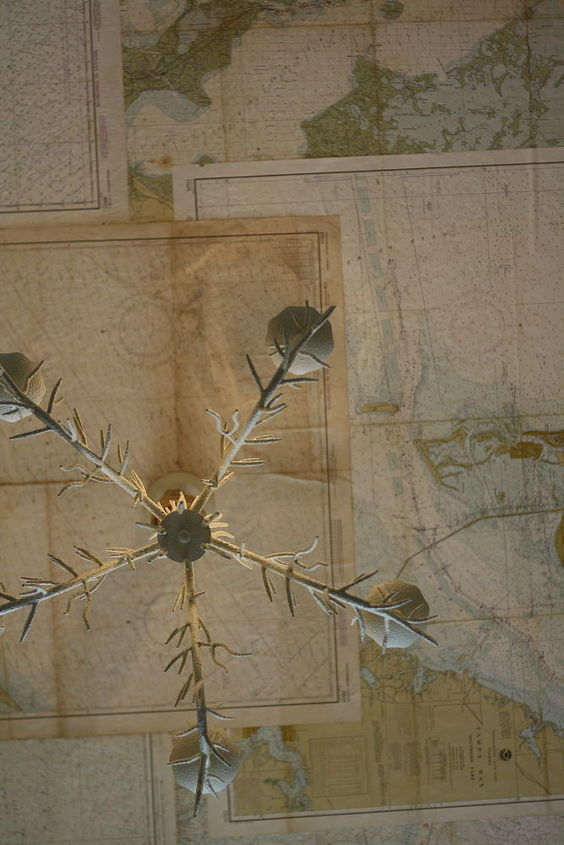 map ceiling, home decor