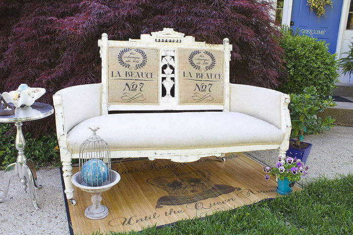 antique revival shabby chic settee, chalk paint, painted furniture, shabby  chic - Antique Revival Shabby Chic Settee! Hometalk