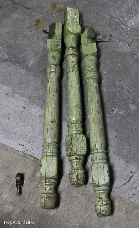 salvaged legs and casters