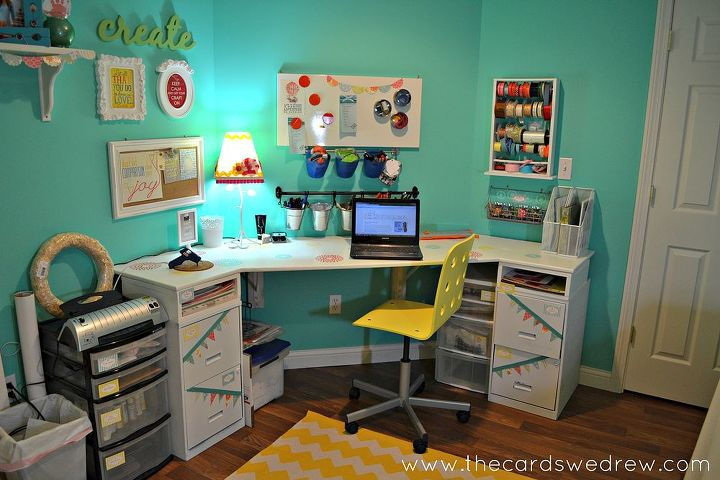 craft room reveal, craft rooms, home decor, organizing, My desk area