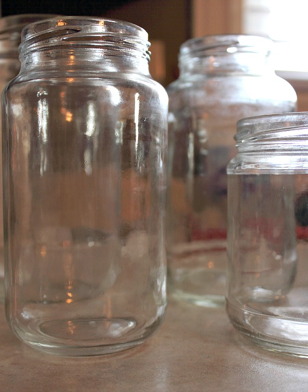 the no sweat chemical free way to remove labels and glue residue from your jars, crafts, Clean and shiny jars Ready to be used for crafting and storage