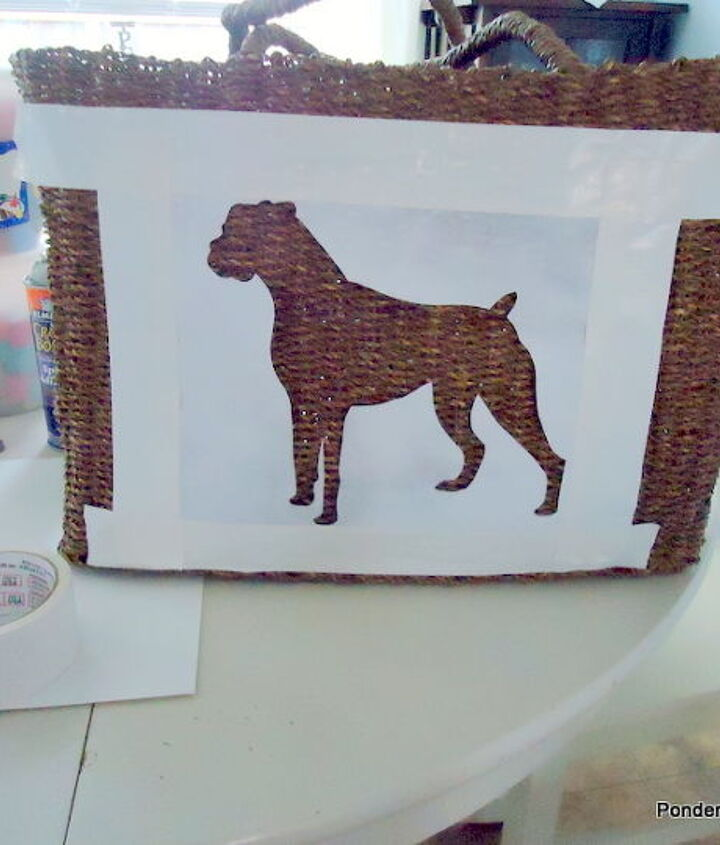 A stencil can be made easily by printing a silhouette and cutting out the image.