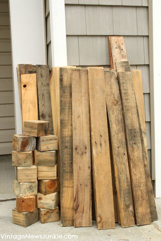 I started with this wood from an old pallet we tore apart.