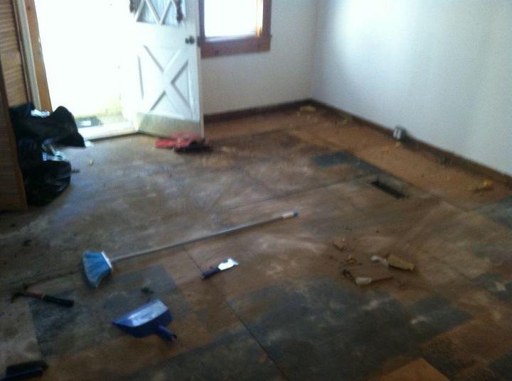 before, flooring