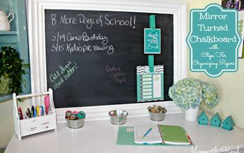 make your own chalkboard paint in any color, chalkboard paint, crafts, painting, Mirror Turned Chalkboard Organizing Center