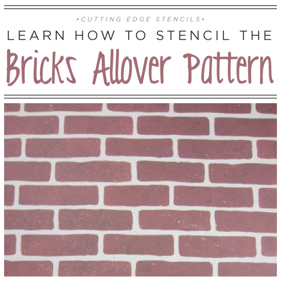learn how to stencil the brick allover pattern, painting, wall decor