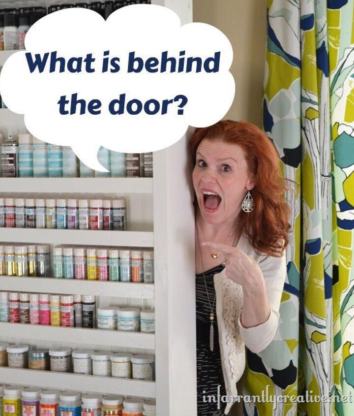paint shelf with hidden door, closet, shelving ideas
