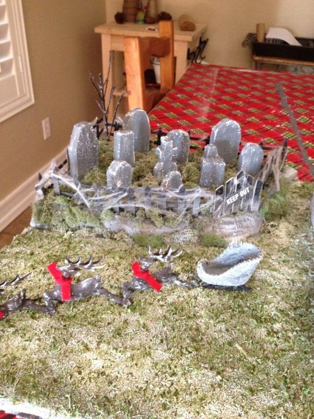 Santaless Sleigh and Cemetery