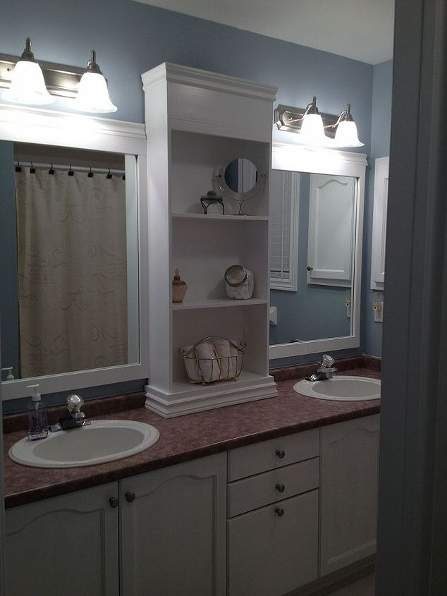 How To Make A Large Bathroom Mirror Redo To Double Framed Mirrors