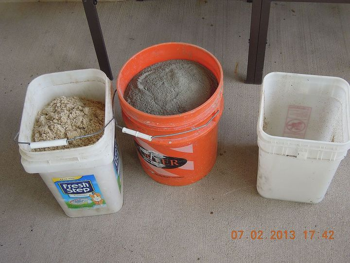 Equal parts of portland cement mix,play sand & water ! Make sure it's portland & not quickcrete !