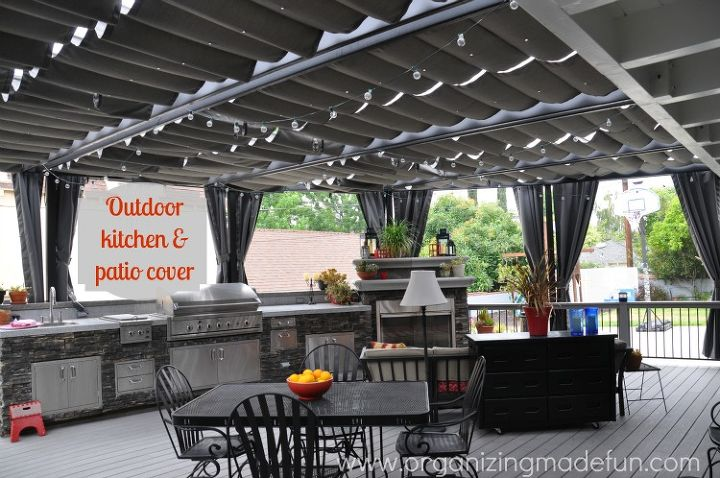 Outdoor kitchen and patio cover