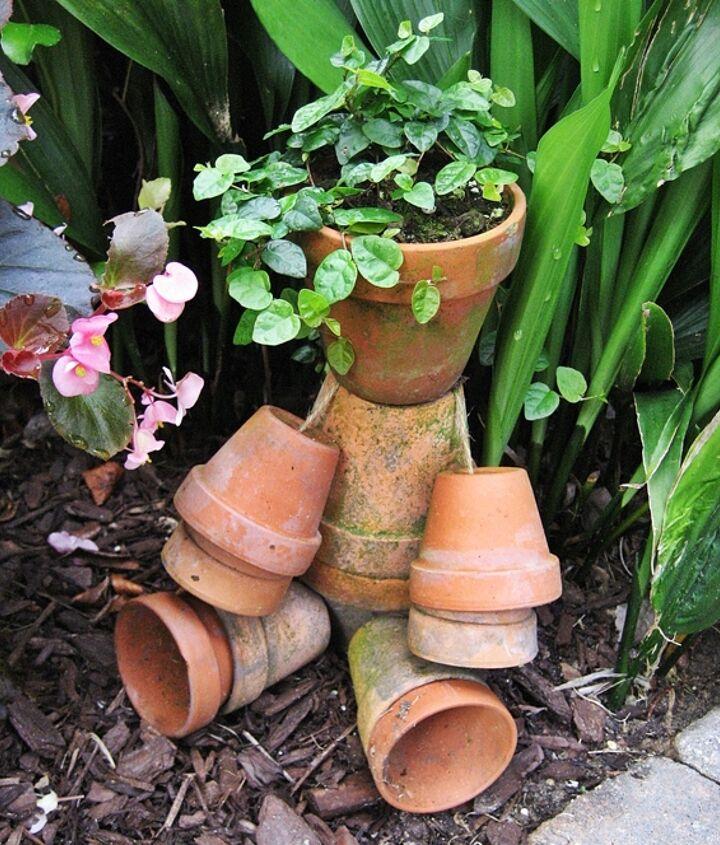 My little rustic flower pot man...tutorial on my blog.
