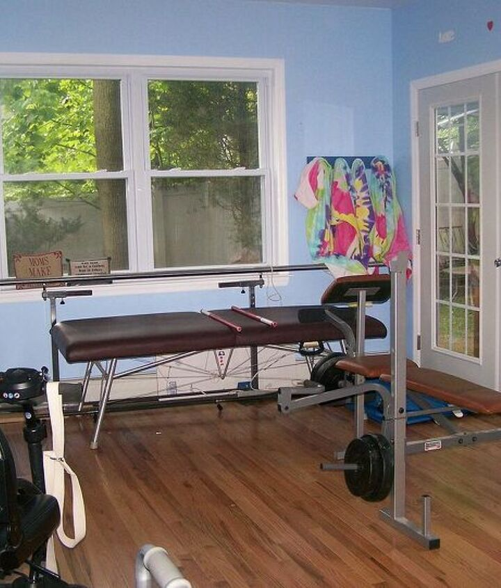 plenty of room for the massage table, weights etc.