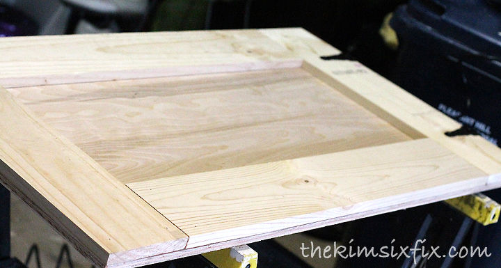 The assembly is straightforward, and doesn't require any miters or difficult measurements.