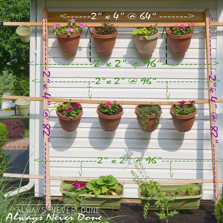 vertical garden o pots, diy, flowers, gardening, how to
