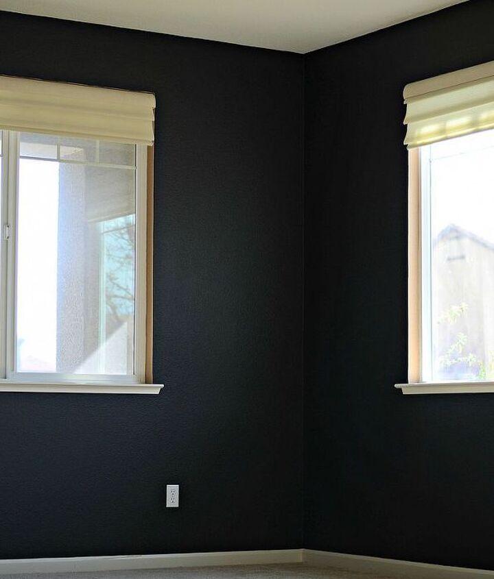 black walls, painting