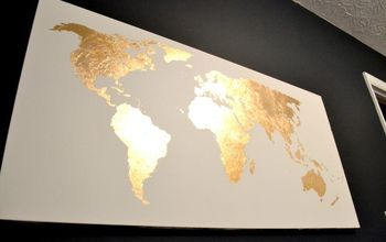Gilded Map Art