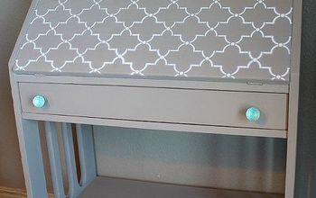 much needed help for a secretary desk, painted furniture, rustic furniture, Finished outside