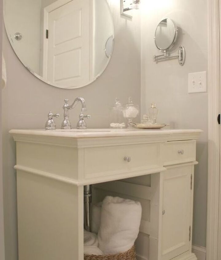 """The vanity was found at a local """"seconds"""" shop."""