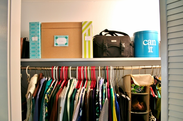 Create a storage zone for everything so even when life gets busy you know where everything goes.