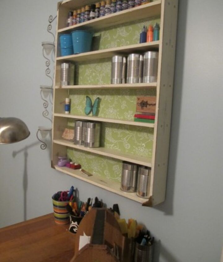 my thrifted craft room, chalk paint, craft rooms, home decor