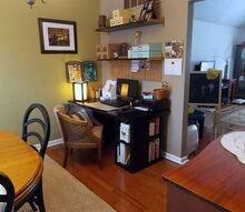 dining room office progress, craft rooms, dining room ideas, home office, storage ideas