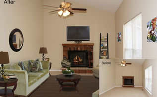 virtual staging before amp after photo of the week, home decor, Virtual Staging of Living Room