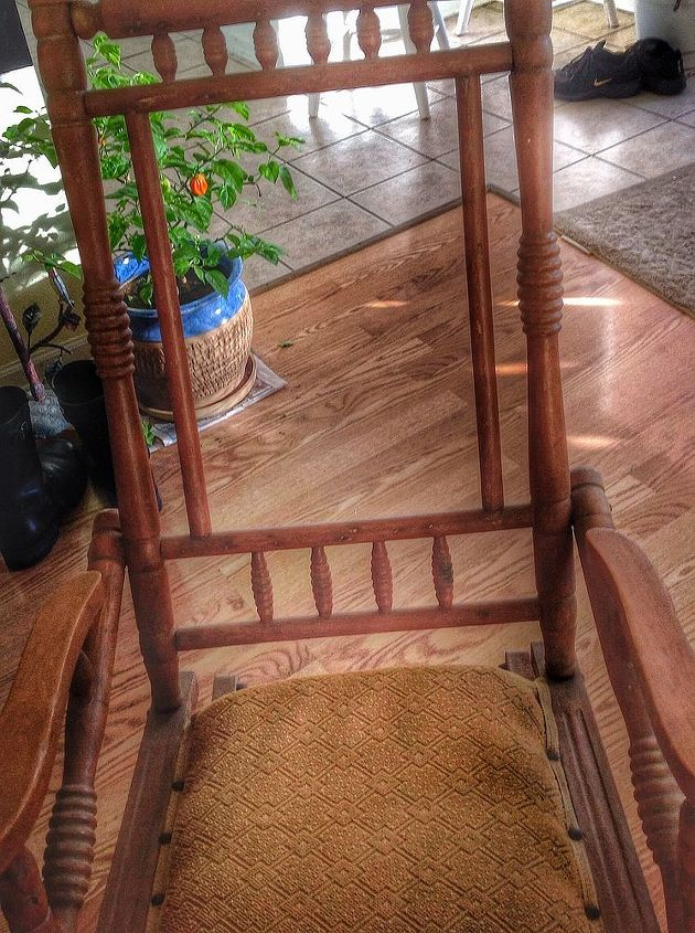old rocking chair, painted furniture