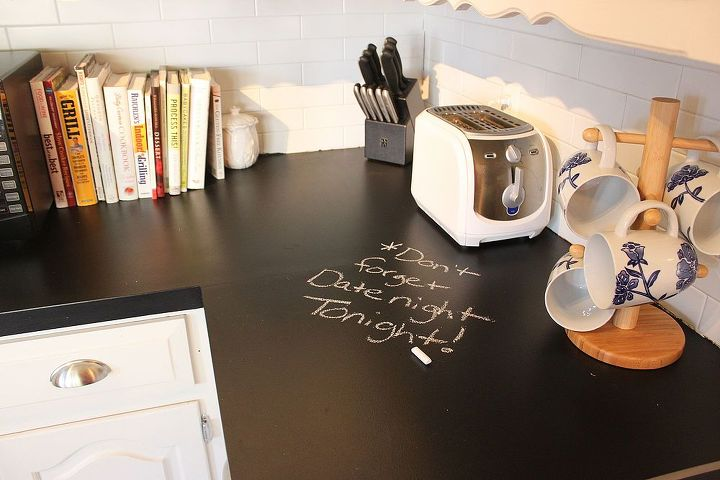 Chalkboard countertops hometalk for Can you replace kitchen cabinets without replacing countertop
