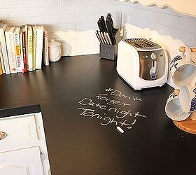Chalkboard Countertops, Chalkboard Paint, Countertops, Diy, How To, Kitchen  Design,