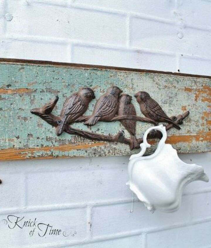 This is the original chippy painted wood.