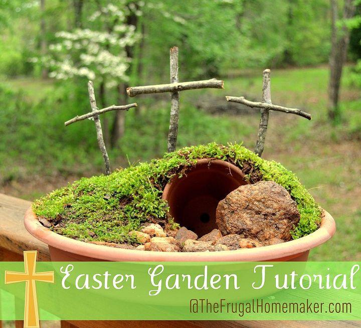 easter garden, easter decorations, gardening, seasonal holiday d cor